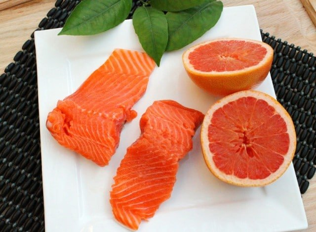Salmon and Grapefruit