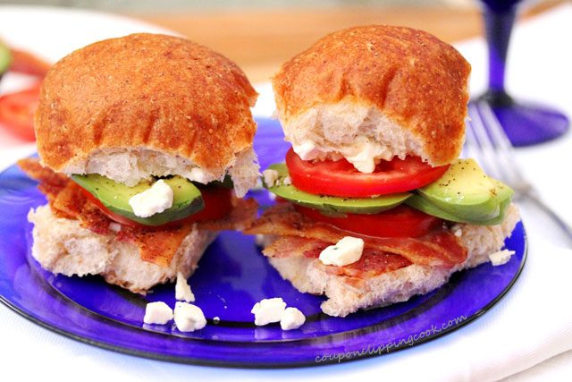 Bacon Avocado Blue Cheese Sliders
