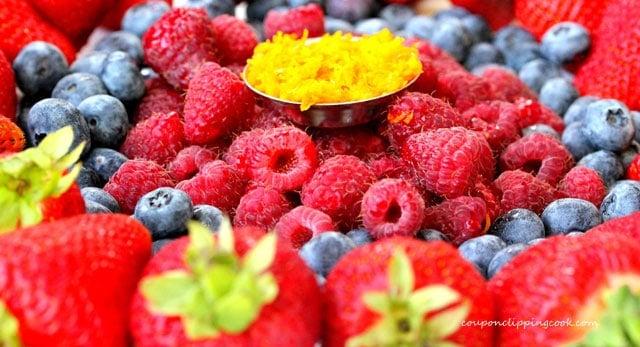 Berries and Orange Zest