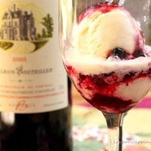 Berry Wine Ice Cream Sauce