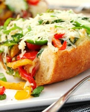 Roasted Garlic and Vegetable Cheese Bread
