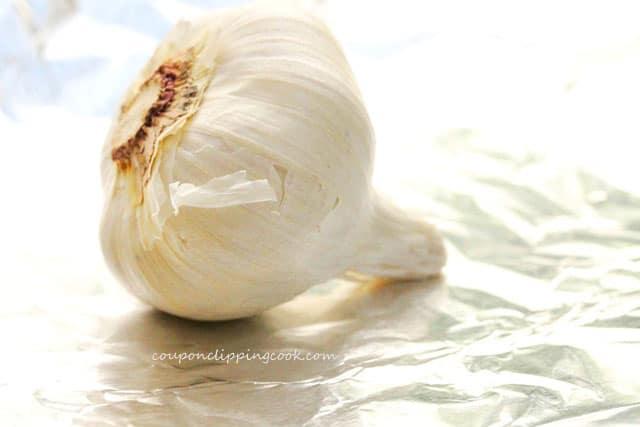 Bulb of Garlic on Foil