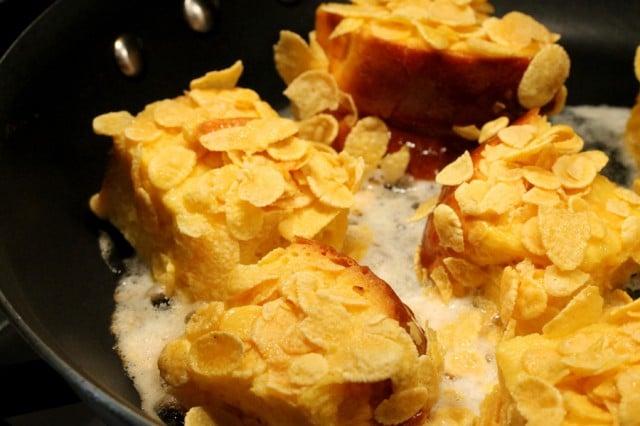 Corn Flake Crusted French Toast
