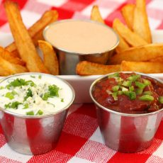 French Fries with Sauces