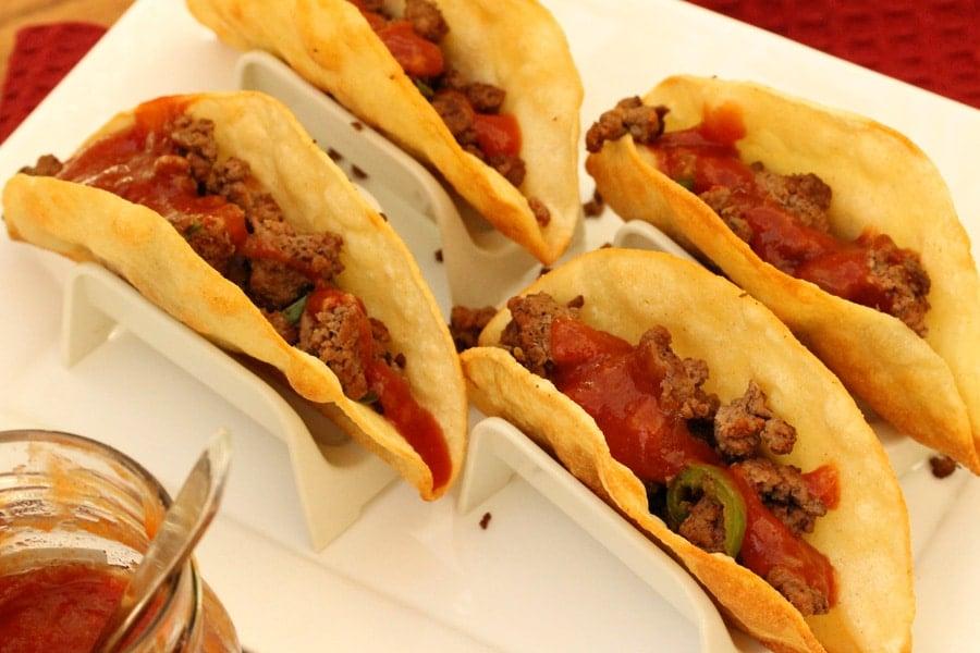 how to make crispy taco shells