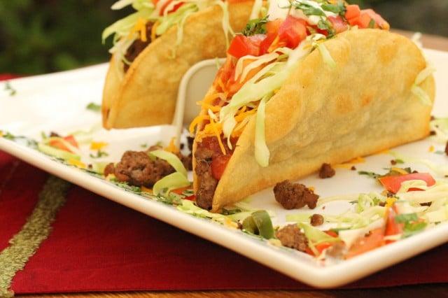 Crispy Tacos on Plate