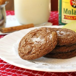 Molasses and Apple Cookies