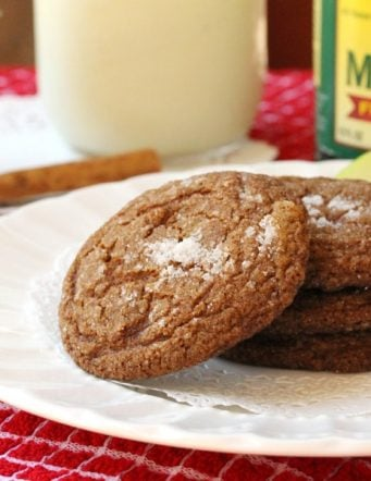 Old Fashioned Apple Molasses Cookies