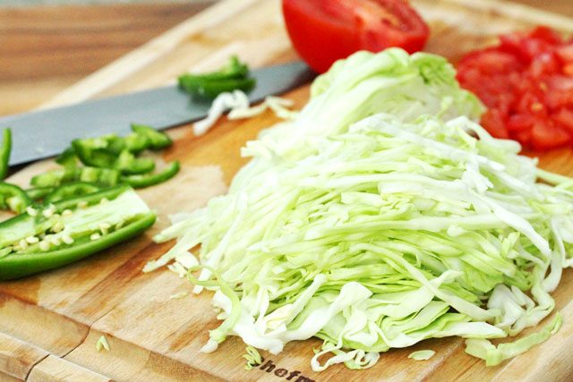 Shredded Green Cabbage