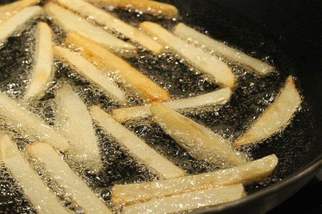 Fry French Fries in Pan