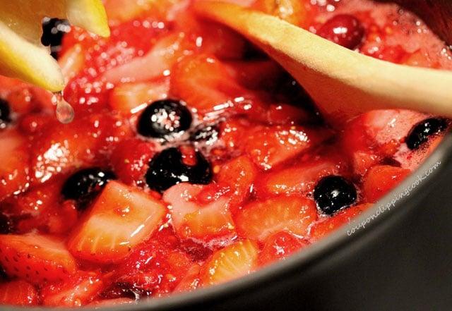 Cooking Berries in Pot