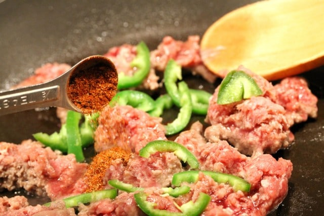 Chili Powder in Ground Beef