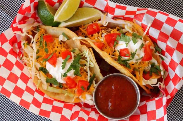 Crispy Tacos with Ground Beef Filling