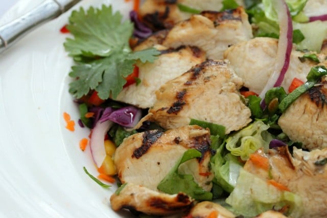 Grilled Lime Chicken Salad