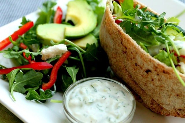Vegetable Pita Tzatziki Sauce