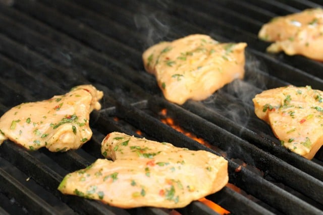 Lime Chicken on Grill