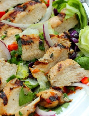 Grilled Honey and Lime Chicken Salad