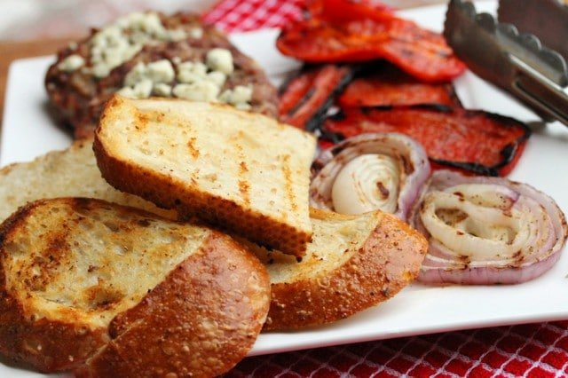 Grilled Toast and Vegetables