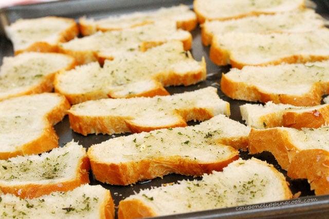 Garlic Toast on Pan