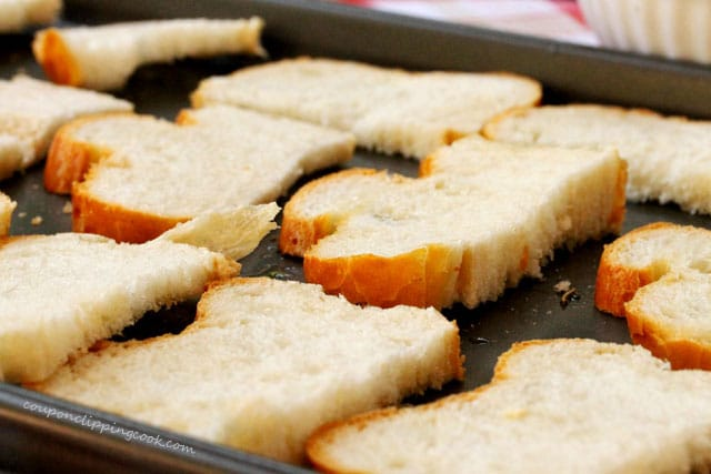 Slices of Bread on Pan