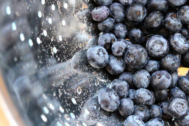 Blueberries in Colander