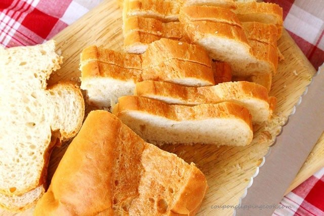 Sliced French Bread on Board