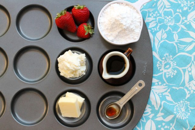 Ricotta Cream Cheese Frosting ingredients