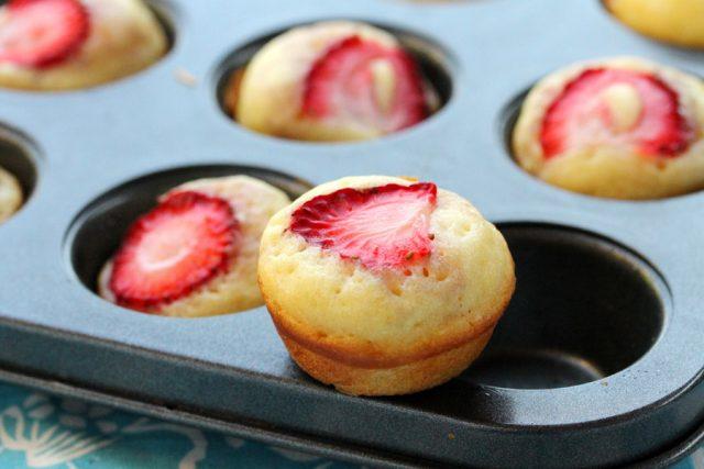 Strawberry Pancake Muffin in pan