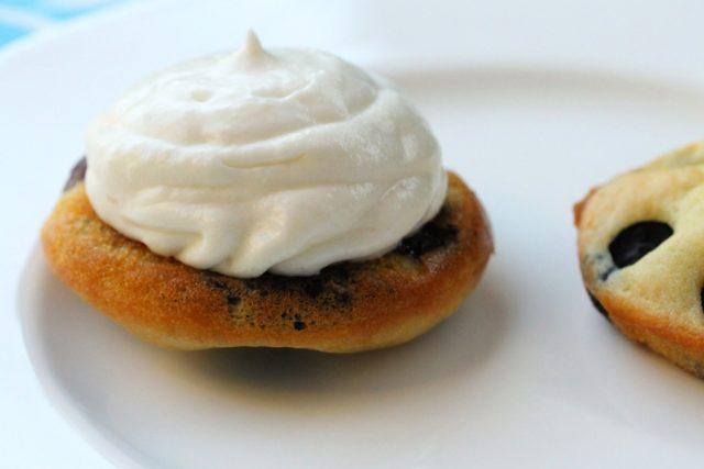 Ricotta Cream Cheese Frosting on pancake
