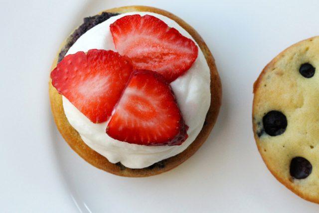 Strawberries on Ricotta Cheese pancake