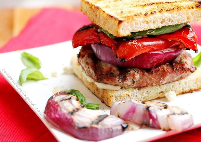 Grilled Turkey Burger with Vegetables