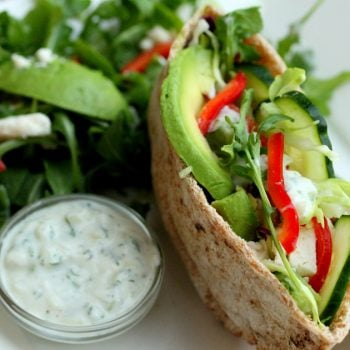 Vegetable Pita with Tzatziki