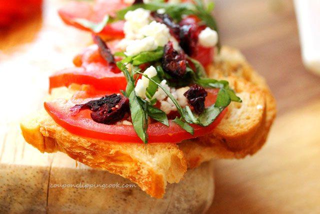 Feta Cranberry Crouton Toast