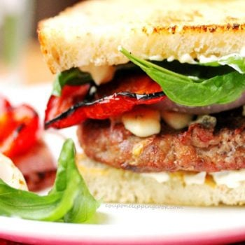 Turkey Basil Burger with Blue Cheese