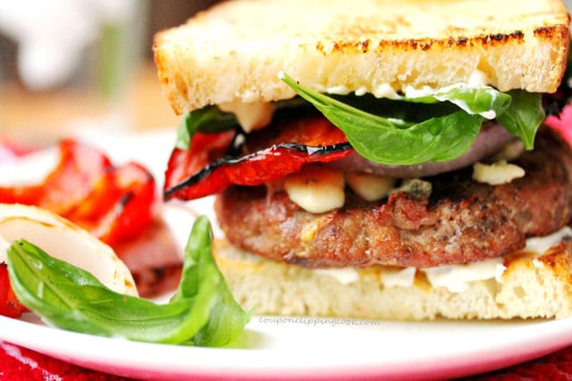 Basil Turkey Burger on plate