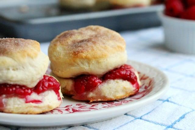Cinnamon Raspberry Biscuits