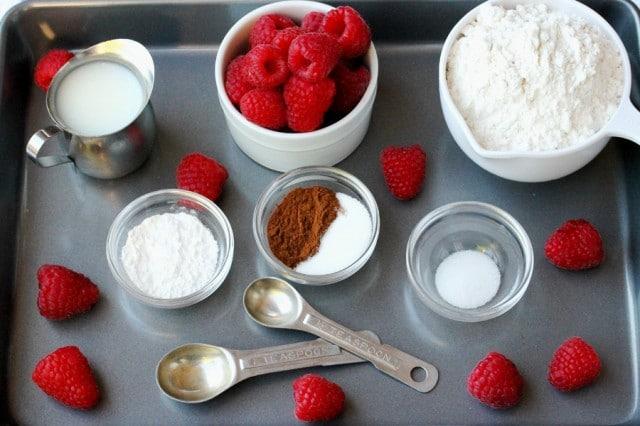 Raspberry Biscuit Ingredients
