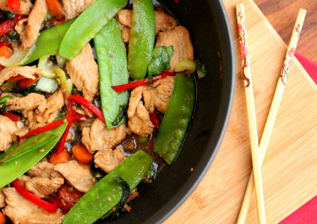 Stir Fry Chicken in Pan