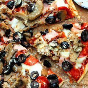 Sausage Pepperoni Pizza