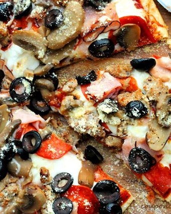 Easy Traditional Pizza with Boboli Bread and Homemade Sauce