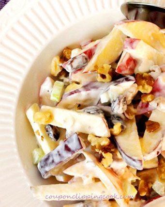 Crispy Apple, Raisin and Walnut Salad