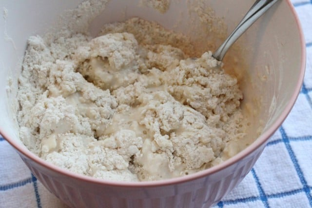 Biscuit Dough in Bowl