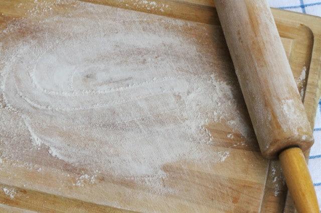 Flour on Cutting Board