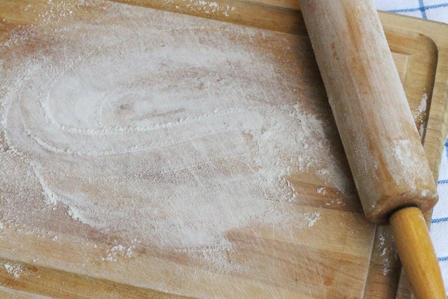 12 flour on cutting board