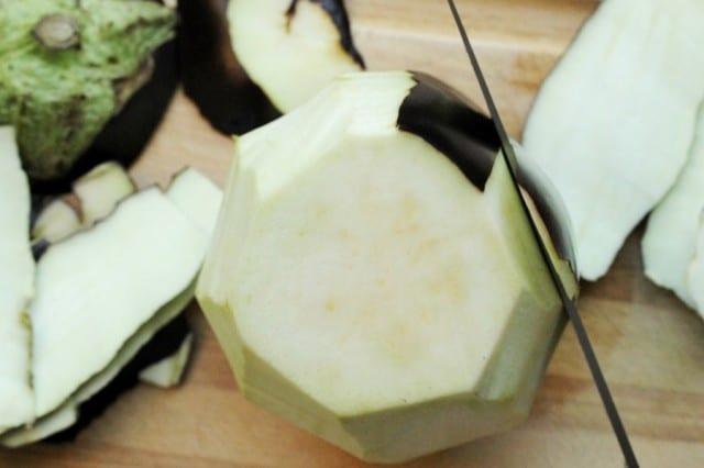 Peel Eggplant