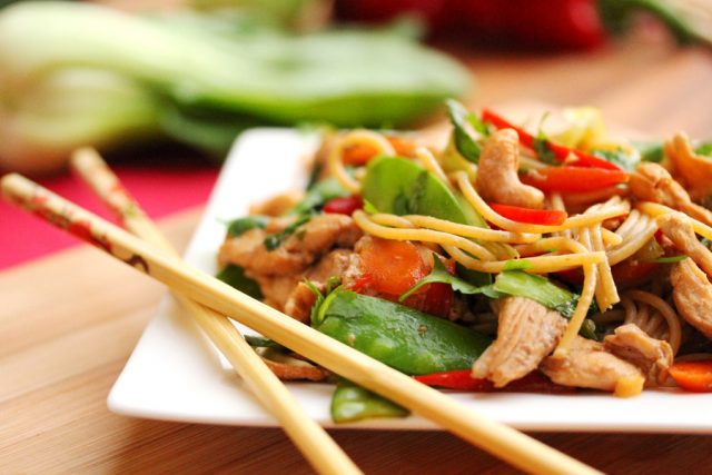 Noodle and Chicken Stir Fry