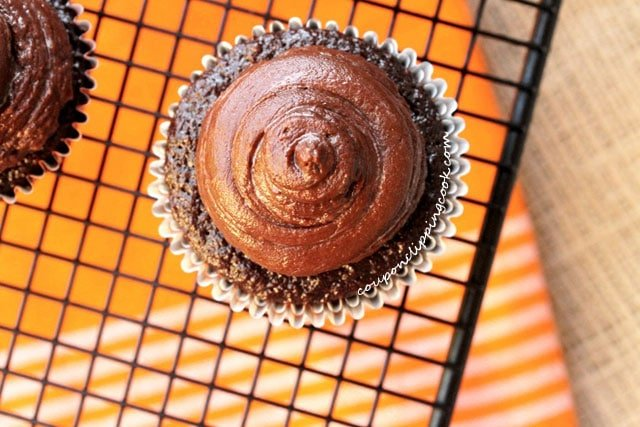 Chocolate Cupcake on Rack