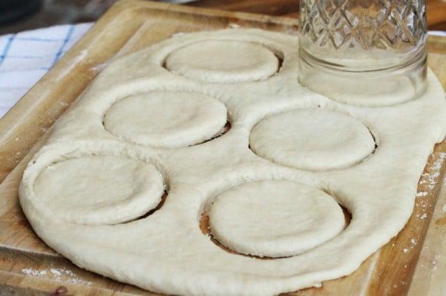 Cut Biscuit Dough