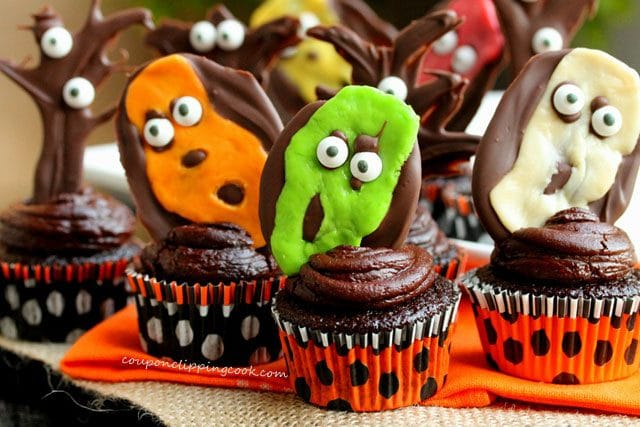 Halloween Chocolate Cupcakes