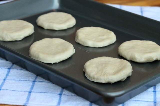 Biscuit Dough on Pan